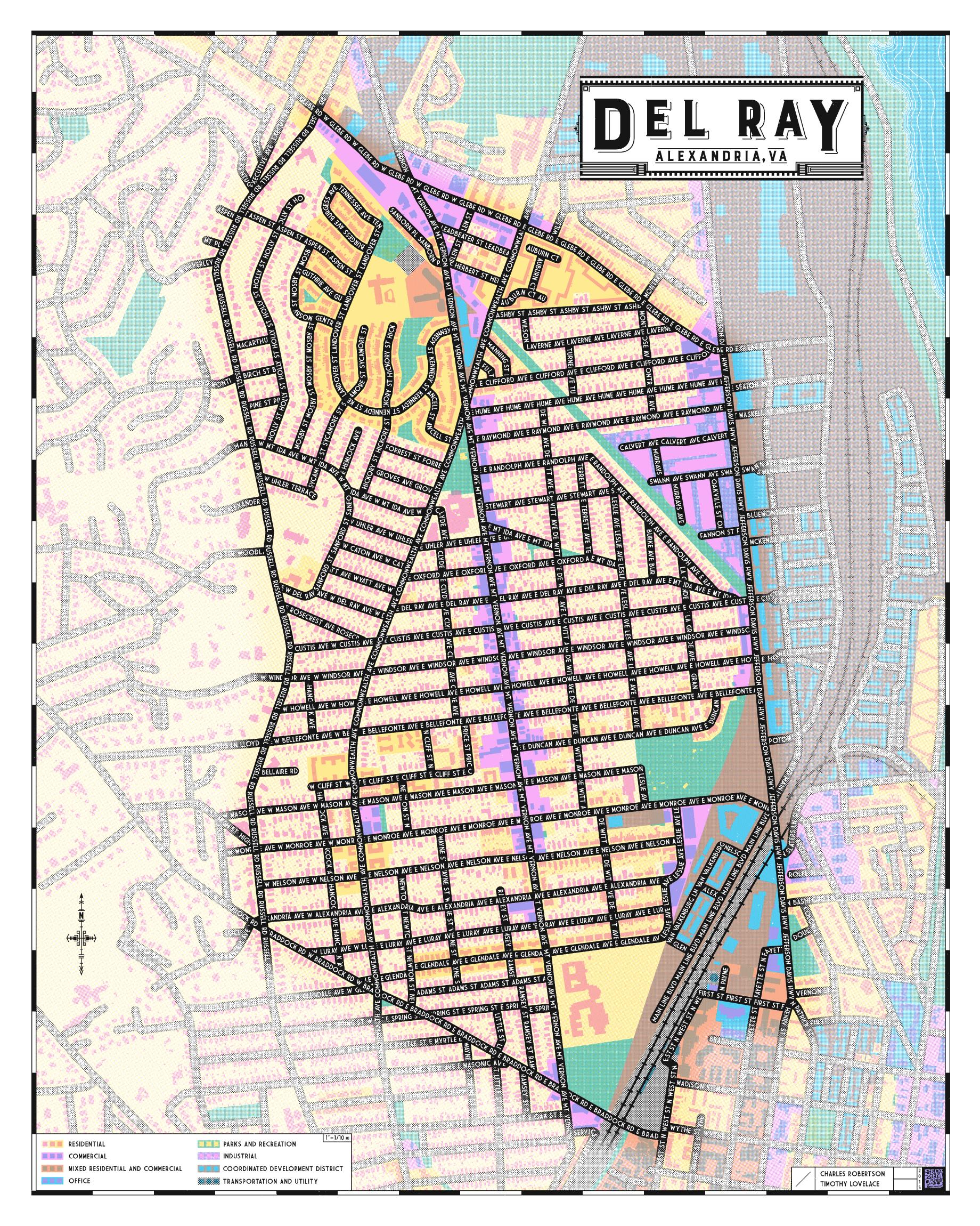 Del Ray Map Sediment Press